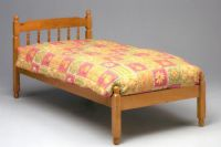 Colonial Spindle Bed in Waxed Finish - Frame only